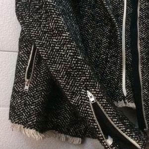ASOS Jackets & Coats - ASOS Black and Cream Tweed Jacket